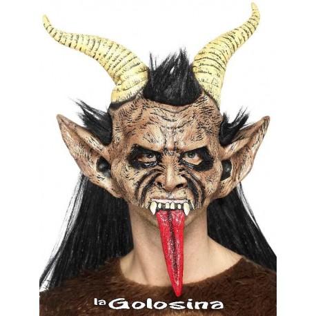 Mascara Demonio Bestia, carnero, con pelo.