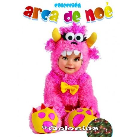 Disfraz Niña: Monstruo rosa.