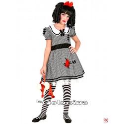 Disfraz Niña: Muñeca gris.
