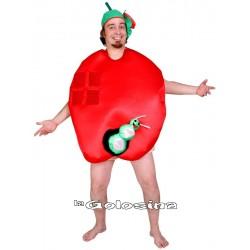 Disfraz Ad. Manzana con gusano
