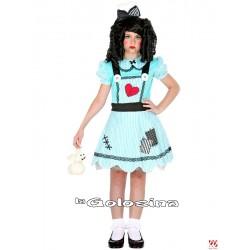 Disfraz Niña: Muñeca azul.