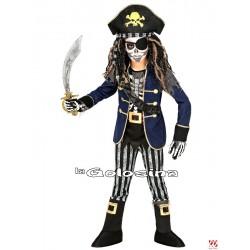 Disfraz Niño: Capitan pirata esqueleto.