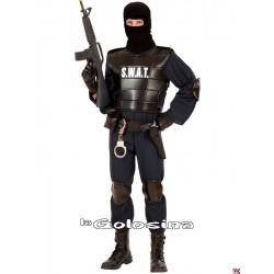 Disfraz Ad. S.W.A.T. (policia, antidisturbios).
