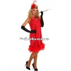 Disfraz Ad. Charleston rojo.