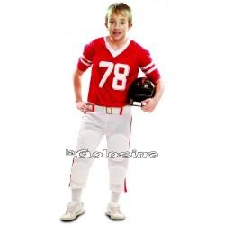 Disfraz Inf. Nino Jugador de rugby rojo