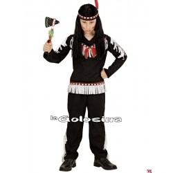 Disfraz Inf. Nino: Indio negro - blanco