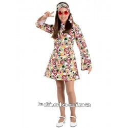 Disfraz Inf. Nina Hippie chica