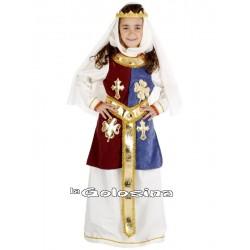 Disfraz Inf. Nina Princesa Medieval