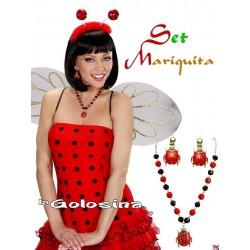 Set de Mariquita Collar y pendientes
